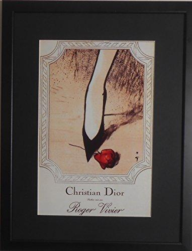 montado-y-enmarcado-fashion-ladies-shoe-imagen-christian-dior-16-x-12-publicidad-material