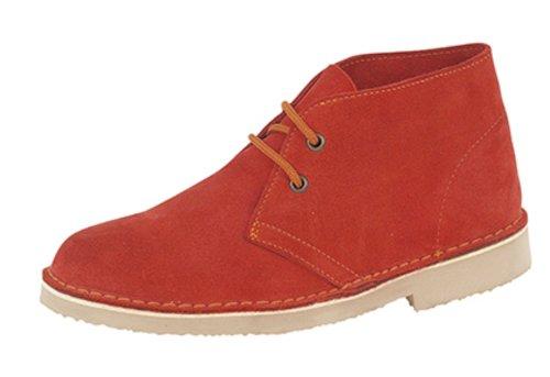 Roamers ,  Unisex - Erwachsene Desert Boots rot - rot