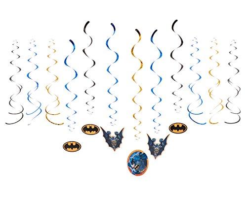 Amscan International Batman Swirl Dekorationen -