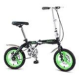 Vélo Pliant vélo de vélo garçon Fille vélo étudiant vélo vélo Enfant Vitesse Unique, Cadre...