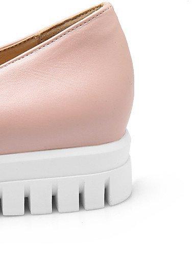 ShangYi Scarpe Donna - Mocassini - Tempo libero / Casual / Formale - Punta arrotondata - Piatto - Finta pelle - Nero / Rosa / Bianco / Argento Pink