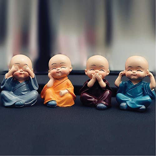 NP Laughing Baby Buddha Resine Showpiece 4 Pcs