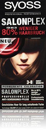 Syoss Haarfarbe, 3-8 Sweet Brunette, 3er Pack (3 x 115 ml)
