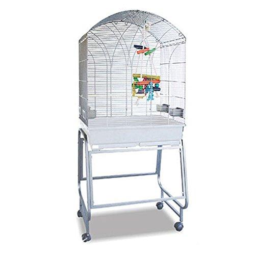 Montana Cages Vogelkäfig, Sittichkäfig, Käfig für Finken, Kanarien und Sittiche FRISCO II - Platinum MIT STÄNDER