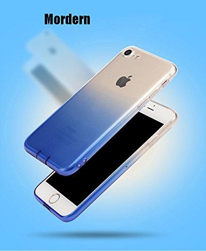 MicBridal® iPhone 6 / 6S/ 6P/ 6SP Hülle Gradient Transparent Farbe Bildserie Weich Silikon Schutzhülle Ultradünnen- Case für Apple iPhone 6 / 6P Schutz Hülle Transparent (Iphone7, 7/7Plus Schwarz) 7/7Plus Rosa