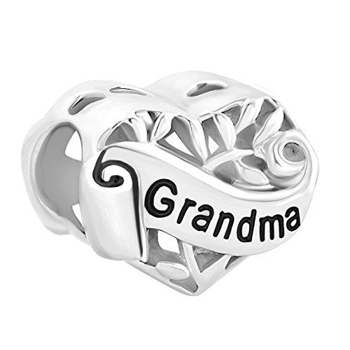 Korliya gioiello i love you argento sterling famiglia albero della vita perlina a forma di cuore per bracciali europei e argento, cod. emw_dpc_ycss11