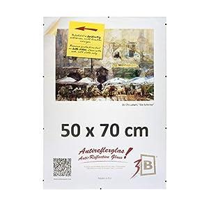 Rahmenloser Bildhalter CLIPRAHMEN mit LUMEX® A-PET Polyesterplatte ANTIREFLEX - CLIPRAHMEN 50 x 70 cm (B2)