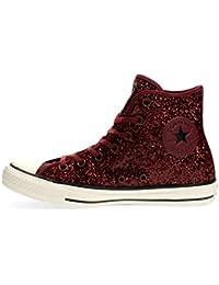 02ab26db1 Zapatos inversos de All Star HI Tela de Lona Brillante Burdeos 555116C