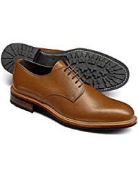 Tan Otterham Derby Shoes by Charles Tyrwhitt