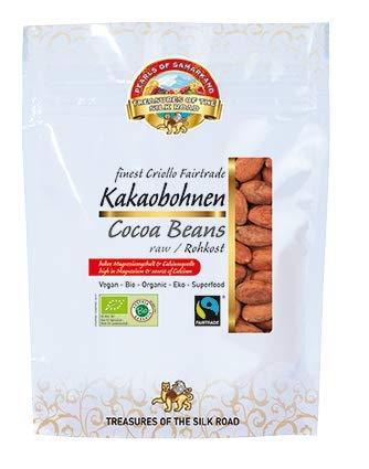 Bio ganze Kakaobohnen roh mit Haut 700gr Criollo Kakao Cacao Cocoa Bohnen Rohkost Nibs Fairtrade 7x100gr