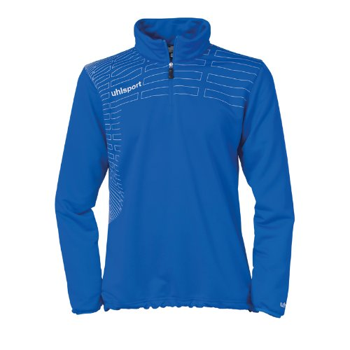 uhlsport Damen Pullover Match 1/4 Zip Top Azurblau/Weiß, S -