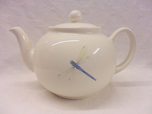 Half Price Sale Dragonfly 6 Cup Teapot By Heron Cross Pottery.