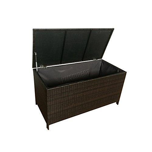 WestWood Garden Furniture Rattan Storage Box Lid ...