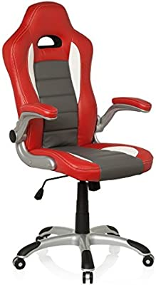 hjh OFFICE 621705 RACER SPORT - Silla gaming y oficina,  rojo/blanco