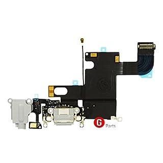 Premium✅ Ladebuchse USB Buchse Mikrofon Antenna Flex Kabel für Apple iPhone 6 (SPACE GRAU) - Charger Dock Connector Micro Audio Jack Flex Cable SPACE GRAU GREY