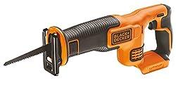 Black+Decker Li-Ion Akku-Säbelsäge (18V, 22 mm Hublänge, max. 110 mm Schnitttiefe, flexibler Sägeschuh, ergonomische Griffgummierung, ohne Akku und Ladegerät) BDCR18N