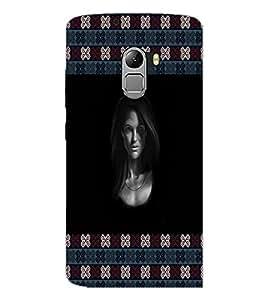 PrintDhaba Girl Face D-5775 Back Case Cover for LENOVO VIBE X3 c78 (Multi-Coloured)