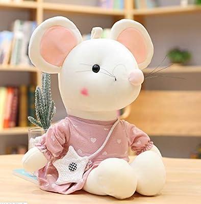 WHKJ Año de la Rata Mascota Pareja Ratón Muñeca Muñeco de Peluche Muñeca Guirnalda Creativa Muñeca Navidad Día de San Valentín Regalo de cumpleaños 32cm por WHKJ