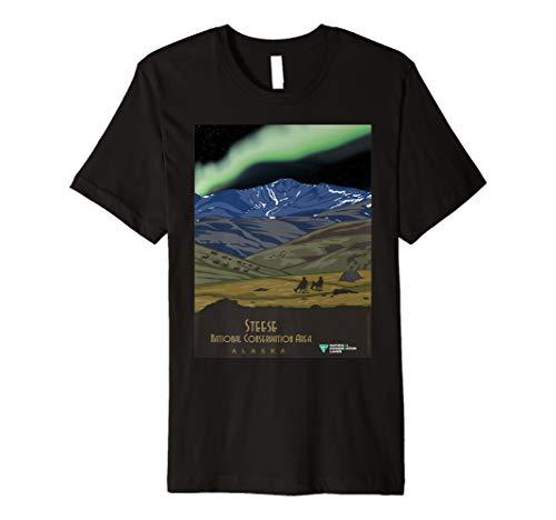 Vintage poster-steese - Alaska-kinder-t-shirt