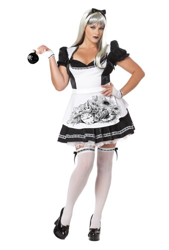 Rabbit Hole Kostüm - Generique - Halloween-Kostüm Alice böse Frau