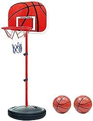 Pellor Einstellbare Basketballständer, Basketballkorb mit Ständer Höhenverstellbar Basketball-Backboard Ständer & Hoop Set für Kinder