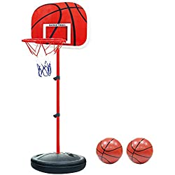 Pellor Canasta Aro de Baloncesto Ajustable,170 CM Aro de Blaconcesto para Niños y Adultos