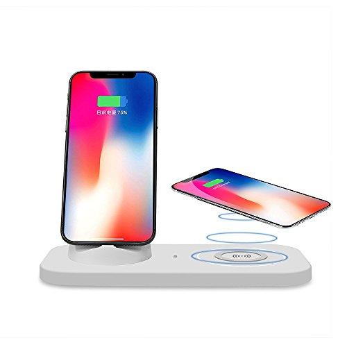 Doshin Wireless Ladegerät Wireless Charger QI Induktive Ladestation 3 in 1 Dockingstation Micro USB & Blitz & Typ-C Ladeschnittstelle für iPhone 8/8 Plus, iPhone X, Samsung Galaxy S9/S8/S8+/S7/S6 usw
