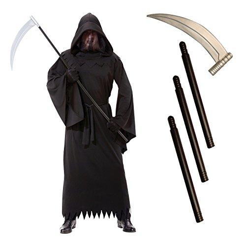 Gevatter Tod mit Sense -Grim Reaper- Kostüm Gr. M/L
