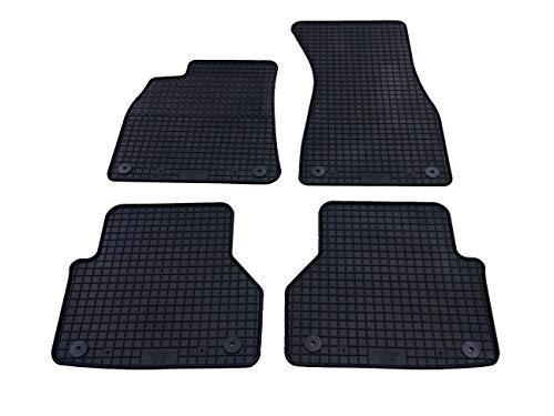 Auto Fußmatten Gummi Set 4-teilig passgenau, schwarz, lange Lenebsdauer durch hohe Abriebsfestigkeit