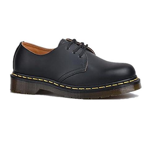 Femmes dames Hommes Appartement Chaussures Couple New Leisure Confortable Cuir véritable Antidérapant Noir Pompes Fall Spring , Black , EUR 45/ UK