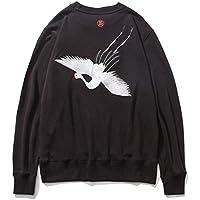 CAI&HONG-GUO GCH Suéter de los Hombres más suéter de Terciopelo Cuello Redondo Casual, A, L