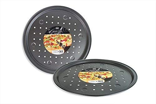 """13"""" Non-Stick Crispier Vented Round Pizza Pan Kitchen Oven Baking Trays Tray"""