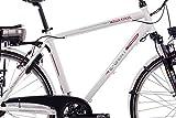 CHRISSON 28″ Zoll CITYRAD ALU Fahrrad E-Bike PEDELEC E-Gent mit 7G Shimano Weiss 53cm- 71,1 cm (28 Zoll) - 3