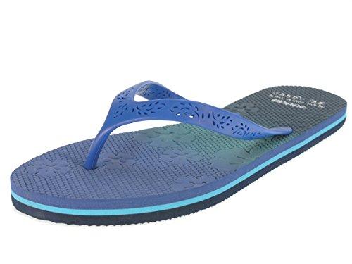 Beppi Sandalen Strandschuhe Zehentrenner Badeschuhe Schwimmbadschuhe Blau