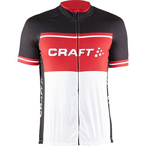 Craft Herren Radtrikot Classic Logo Jersey black-red