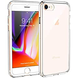 Syncwire Coque iPhone 8/7 Transparente - Housse de Protection en Silicone Rigide Anti Choc avec Technologie de Coussins d'air Étuis iPhone 8 / iPhone 7 Coque UltraRock Séries - Transparent