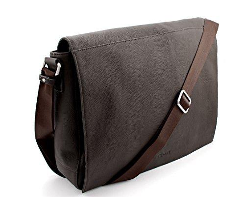 414dyzN2fuL - Bovari echt Leder Messenger Bag Umhängetasche Schultertasche Laptoptasche Notebooktasche (bis 15,6 Zoll) Model Metz - Herren Damen - 39x31x9 cm - Limited Premium Edition