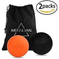 MOSSLIAN Lacrosse Ball, Massage Ball Perfekt für Faszien- und Selbstmassage 2er Set