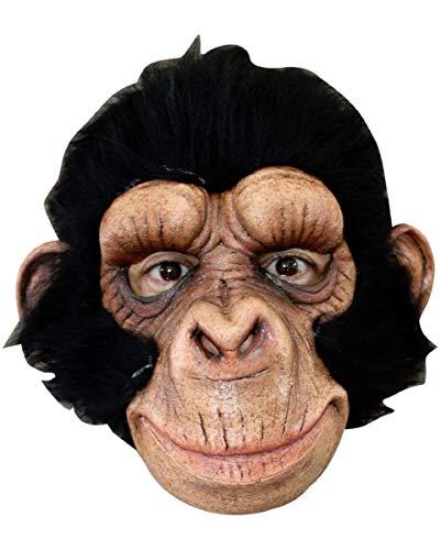 Horror-Shop Affen Maske mit Kunstfell - One Size - ()