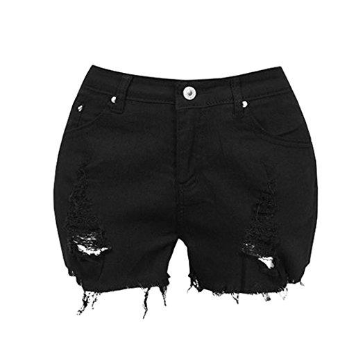 Kanpola Frauen Jeans Riss Denim Worn Loose Shorts (M) (Ladung Rock Mädchen)