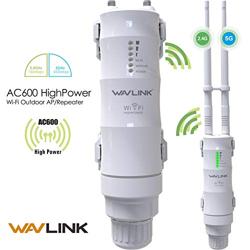 Buy WAVLINK WL-WN570HA1-AC600 High Power 802.11AC Dual Band 2.4+5G 600Mbps Outdoor 3 in 1 Wireless AP/Router/WiFi Repeater Range Extender Internet Signal Booster Amplifier in PoE and High Gain Antenna online in India at discounted price