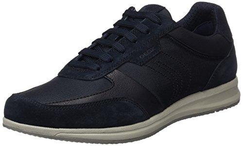 Geox u avery b, scarpe da ginnastica basse uomo, blu (navy), 43 eu