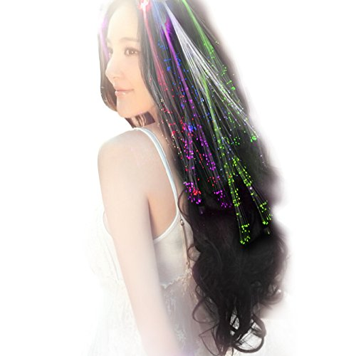 Linxii 10pcs lights up hair colour in dark accessories for girls (5 colors)