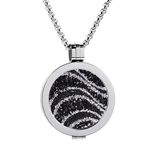 Meilanty Coin 33mm Edelstahl Silber Damen Halskette mit 80cm Ketten WZ-F