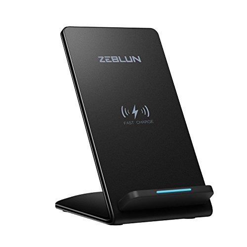 ZEBLUN Chargeur Sans Fil Qi Pour iPhone XS Max, Qi Chargeur Induction Pour Samsung Galaxy S10/S10+/S10 E/S9/S9 +/Note 8/ S8/S8 +/S6 Edge +/S7Edge, iPhone X/ Xs/ Xr/ Xs Max/8/8+ et Autre Qi Compatible