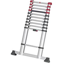 Hailo 7113-111 FlexLine Aluminium Sicherheits-Teleskopleiter (9-13 Sprossen)
