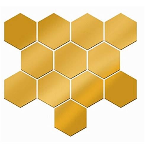 Ogquaton 12 piezas pegatinas pared decorativas hexagonales