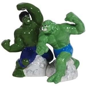 Marvel Comics Hulk vs Abomination Salt and Pepper Shaker Set