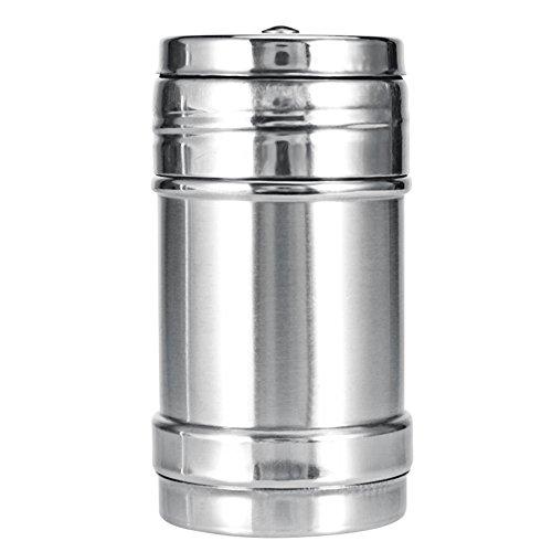 Waroomss barattoli porta spezie professionali in acciaio inox con coperchio girevole, per cucina, ristorante, griglia, spezie, shaker per sale, zucchero, spice pepe, acciaio inox, argento, m