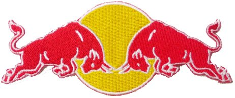 red-bull-red-yellow-embroidered-badge-patch-iron-or-sew-on-105cm-x-45cm